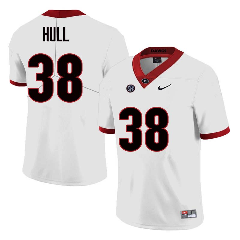 Men Georgia Bulldogs #38 Joseph Hull College Football Jerseys Sale-White