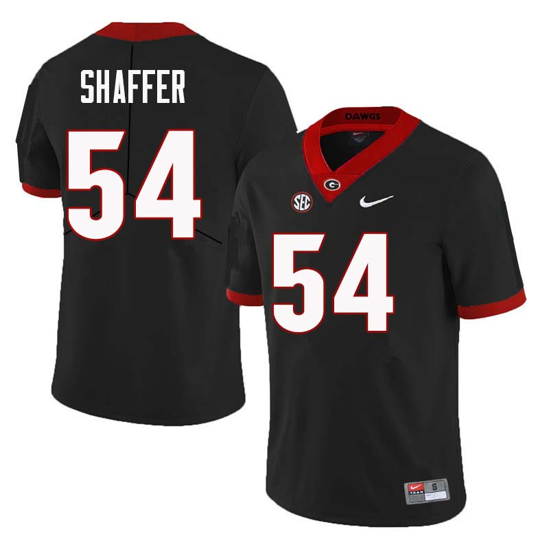 Men Georgia Bulldogs #54 Justin Shaffer College Football Jerseys Sale-Black