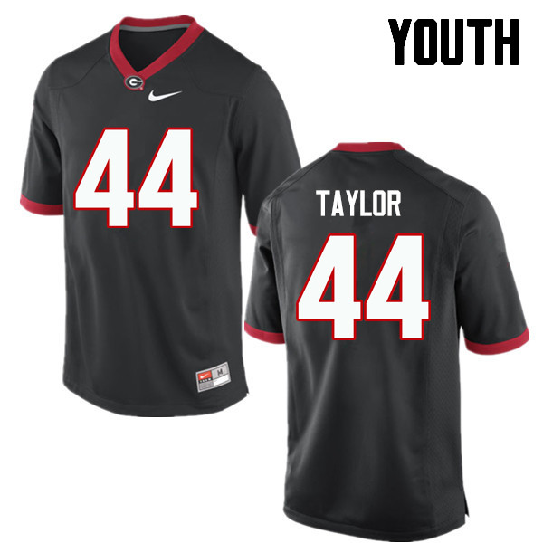 Youth Georgia Bulldogs #44 Juwan Taylor College Football Jerseys-Black