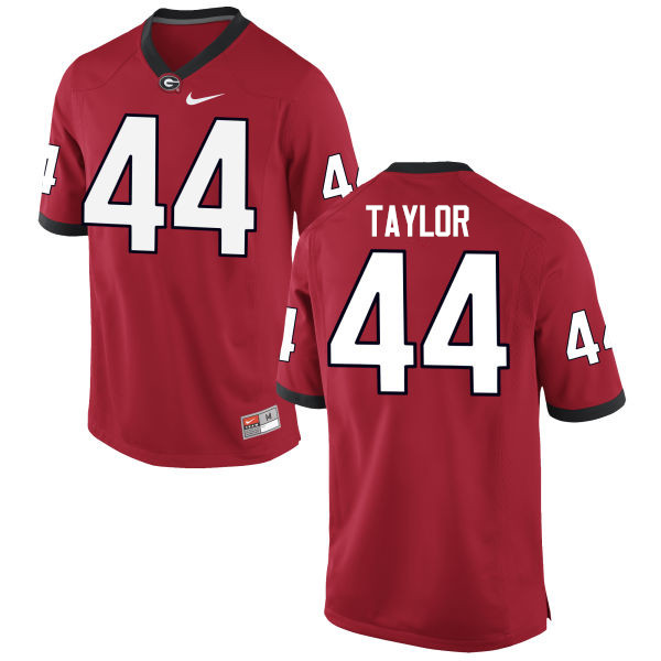 Men Georgia Bulldogs #44 Juwan Taylor College Football Jerseys-Red