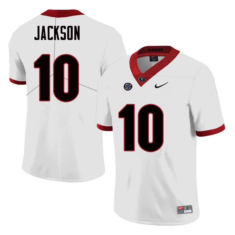 Men Georgia Bulldogs #10 Kearis Jackson College Football Jerseys Sale-White