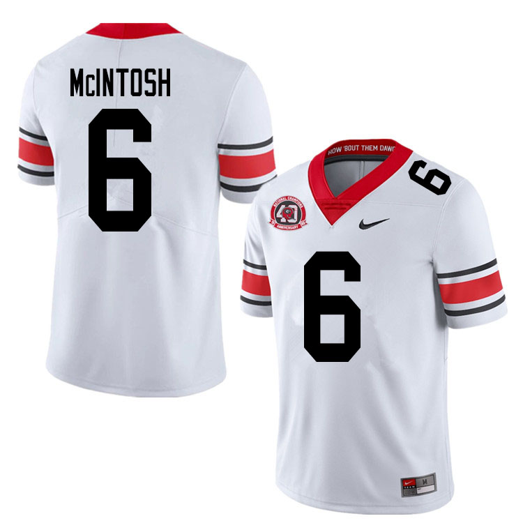2020 Men #6 Kenny McIntosh Georgia Bulldogs 1980 National Champions 40th Anniversary College Footbal