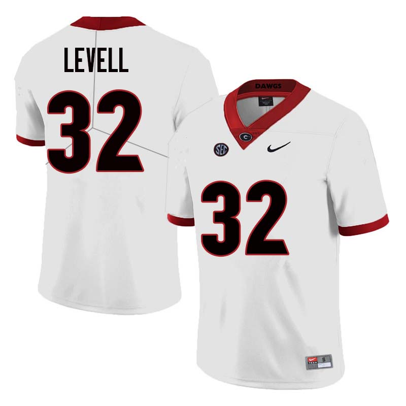 Men Georgia Bulldogs #32 Kyle Levell College Football Jerseys Sale-White