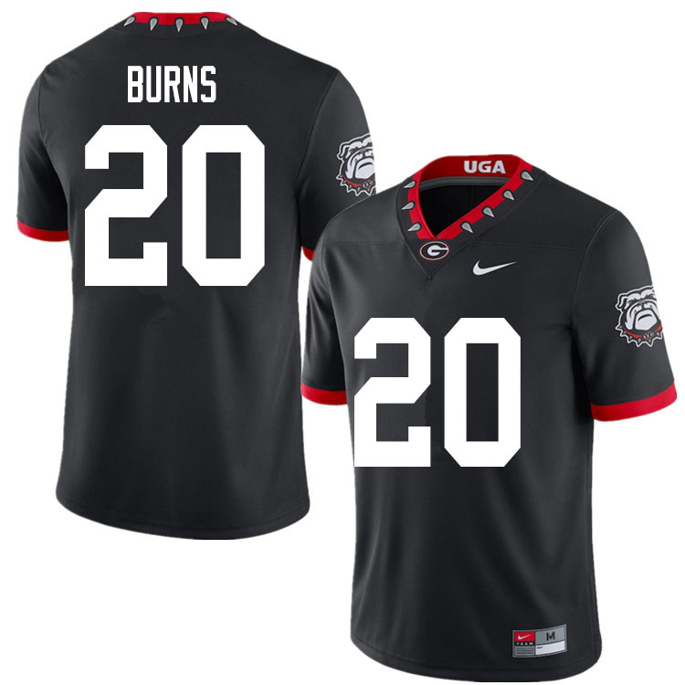 2020 Men #20 Major Burns Georgia Bulldogs Mascot 100th Anniversary College Football Jerseys Sale-Bla