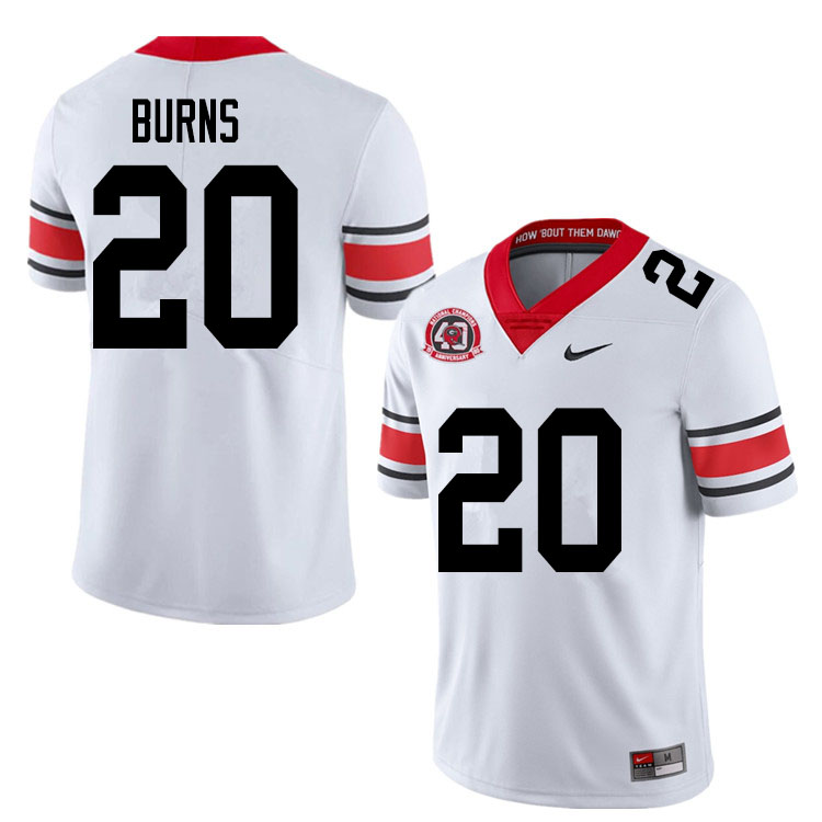 2020 Men #20 Major Burns Georgia Bulldogs 1980 National Champions 40th Anniversary College Football