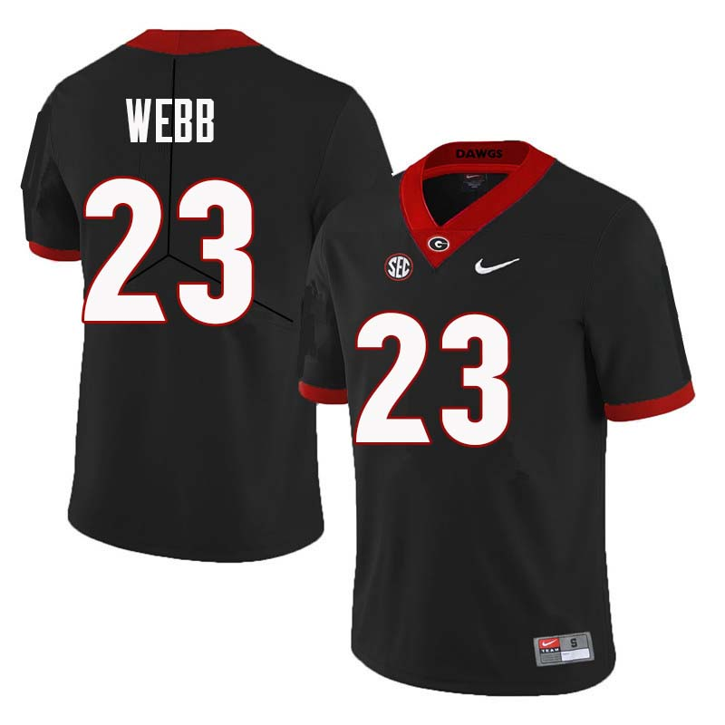 Men Georgia Bulldogs #23 Mark Webb College Football Jerseys Sale-Black
