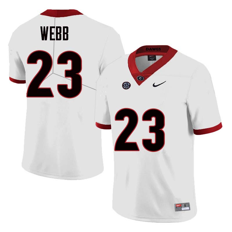 Men Georgia Bulldogs #23 Mark Webb College Football Jerseys Sale-White