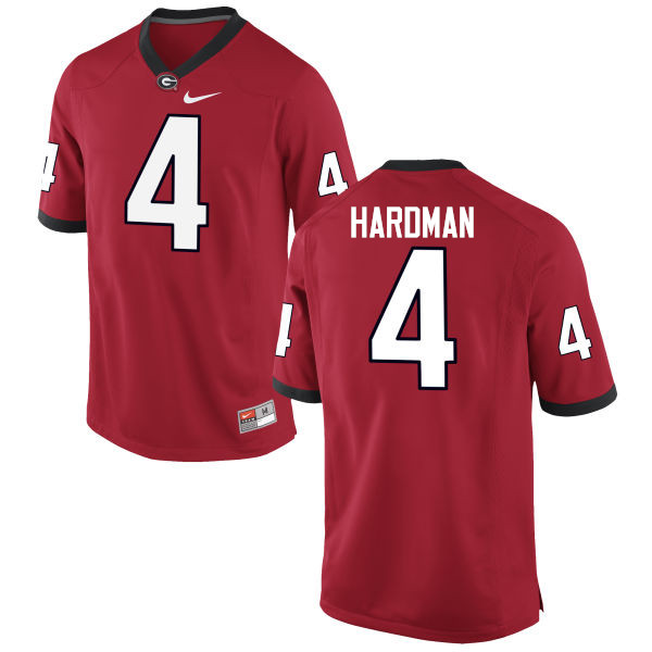 Men Georgia Bulldogs #4 Mecole Hardman College Football Jerseys-Red