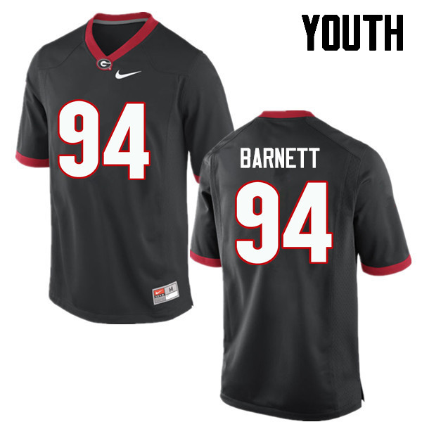 Youth Georgia Bulldogs #94 Michael Barnett College Football Jerseys-Black