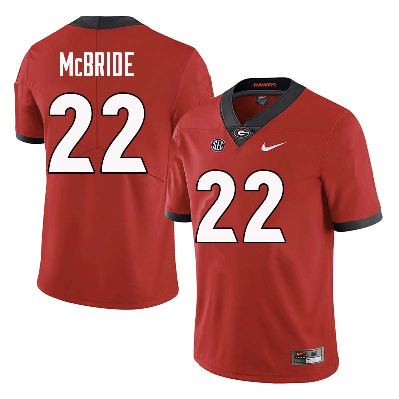Men Georgia Bulldogs #22 Nate McBride College Football Jerseys Sale-Red