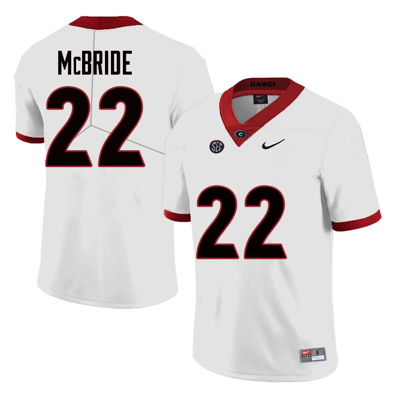 Men Georgia Bulldogs #22 Nate McBride College Football Jerseys Sale-White