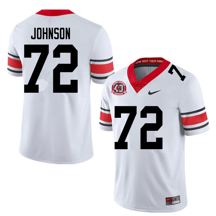 2020 Men #72 Netori Johnson Georgia Bulldogs 1980 National Champions 40th Anniversary College Footba