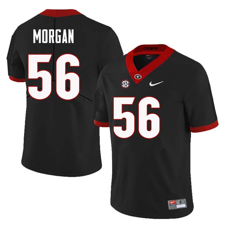 Men Georgia Bulldogs #56 Oren Morgan College Football Jerseys Sale-Black