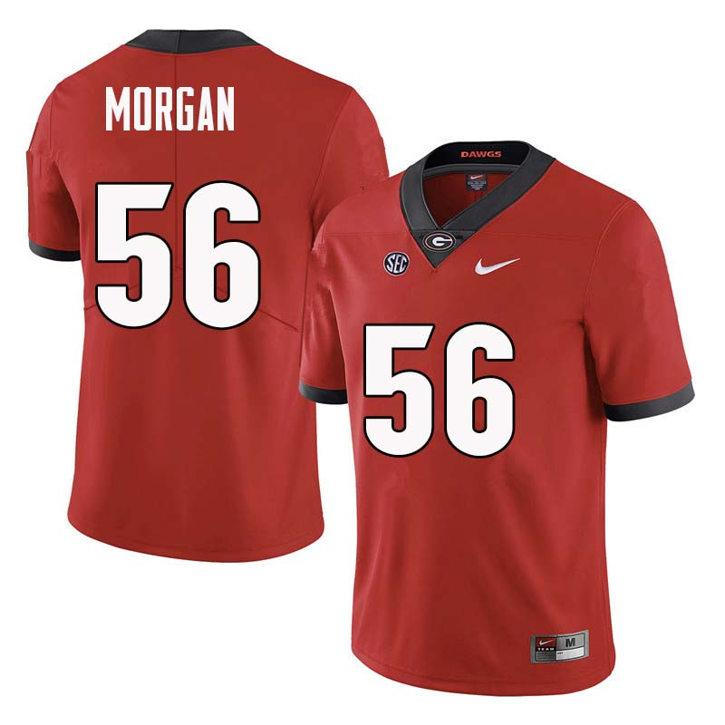Men Georgia Bulldogs #56 Oren Morgan College Football Jerseys Sale-Red