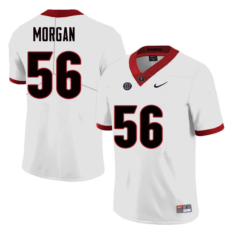Men Georgia Bulldogs #56 Oren Morgan College Football Jerseys Sale-White