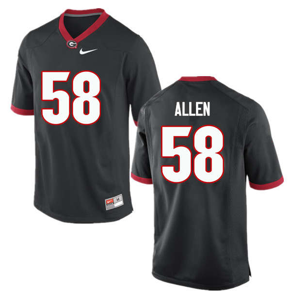 Men Georgia Bulldogs #58 Pat Allen College Football Jerseys-Black