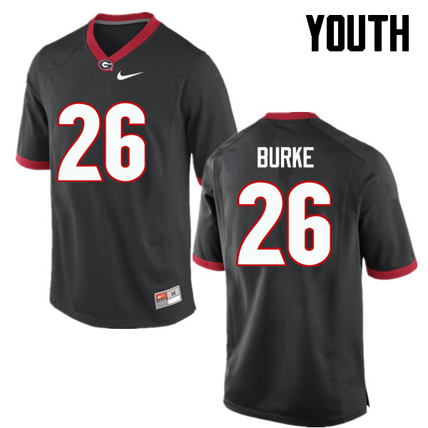 Youth Georgia Bulldogs #26 Patrick Burke College Football Jerseys-Black