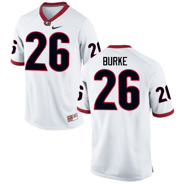 Men Georgia Bulldogs #26 Patrick Burke College Football Jerseys-White