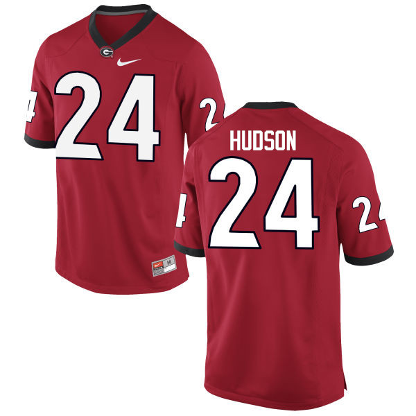 Men Georgia Bulldogs #24 Prather Hudson College Football Jerseys-Red