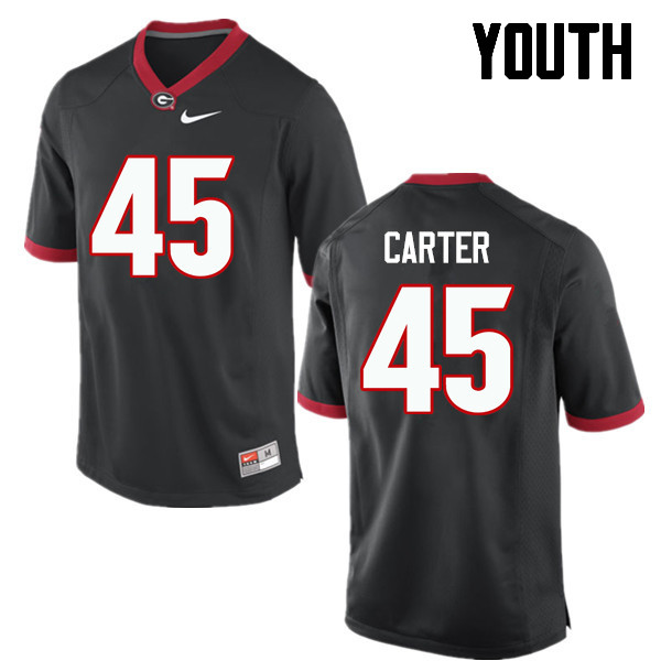 Youth Georgia Bulldogs #45 Reggie Carter College Football Jerseys-Black