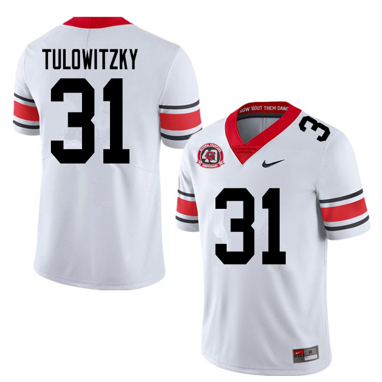 2020 Men #31 Reid Tulowitzky Georgia Bulldogs 1980 National Champions 40th Anniversary College Footb
