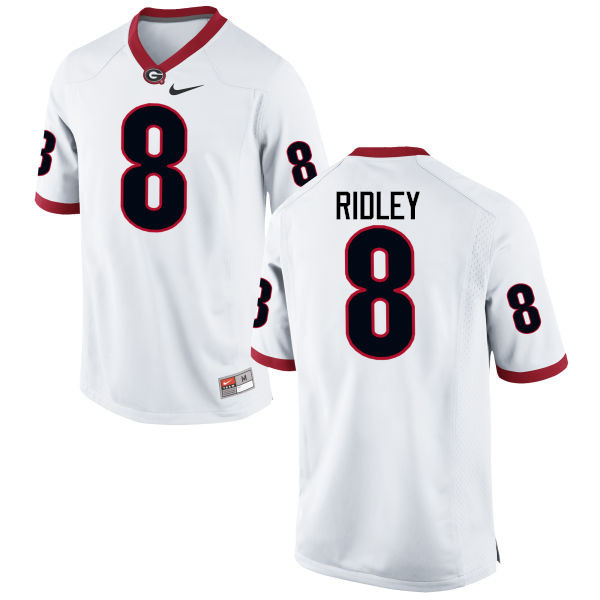Men Georgia Bulldogs #8 Riley Ridley College Football Jerseys-White
