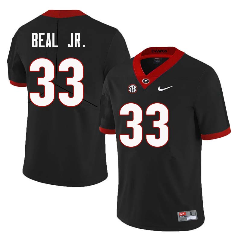 Men Georgia Bulldogs #33 Robert Beal Jr. College Football Jerseys Sale-Black
