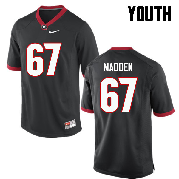 Youth Georgia Bulldogs #67 Sam Madden College Football Jerseys-Black