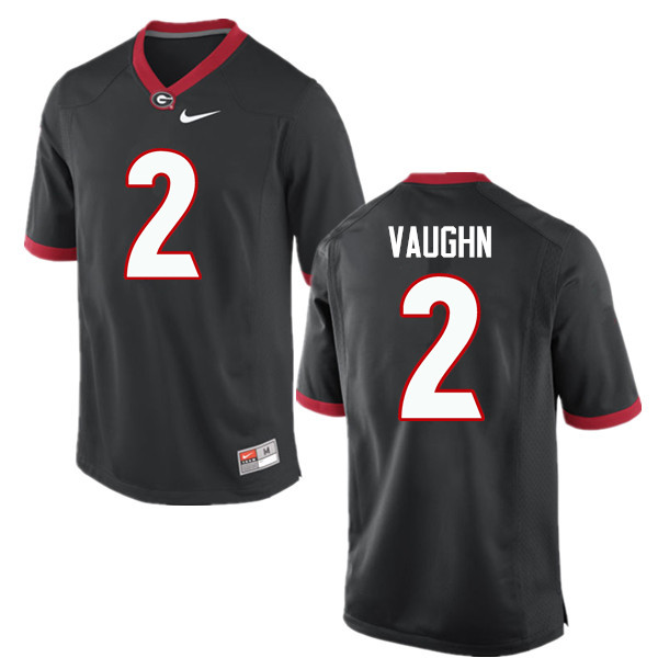 Men Georgia Bulldogs #2 Sam Vaughn College Football Jerseys-Black