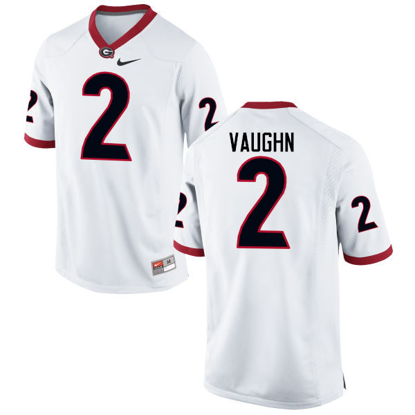 Men Georgia Bulldogs #2 Sam Vaughn College Football Jerseys-White