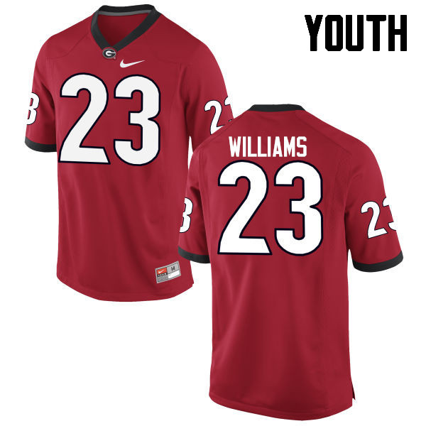 Youth Georgia Bulldogs #23 Shakenneth Williams College Football Jerseys-Red