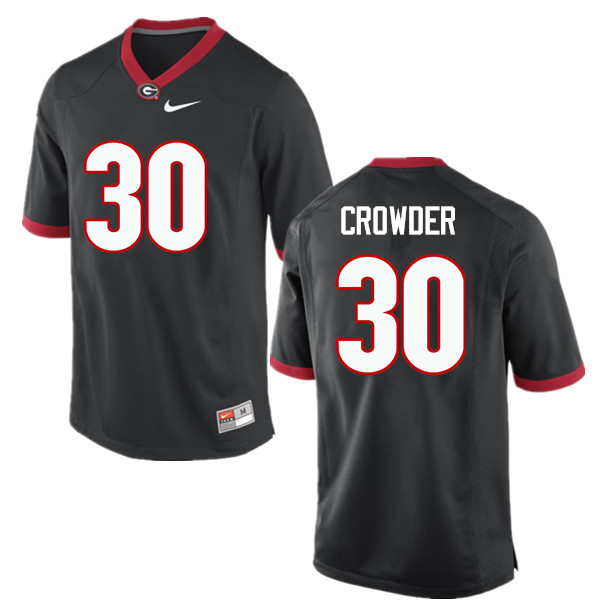 Men Georgia Bulldogs #30 Tae Crowder College Football Jerseys-Black