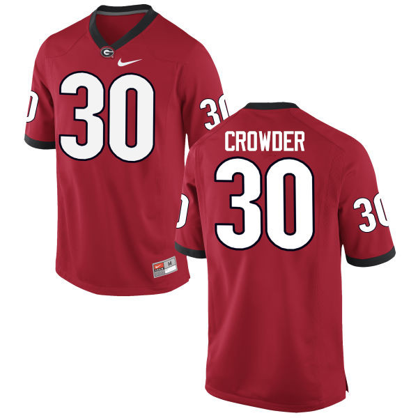 Men Georgia Bulldogs #30 Tae Crowder College Football Jerseys-Red