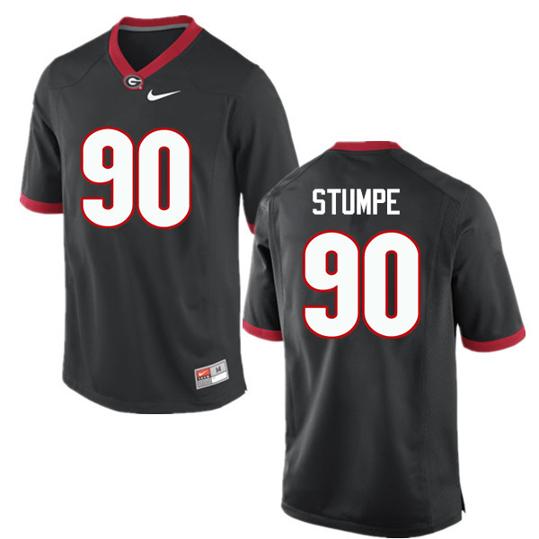 Men Georgia Bulldogs #90 Tanner Stumpe College Football Jerseys-Black