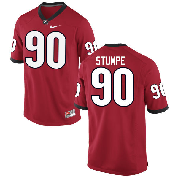 Men Georgia Bulldogs #90 Tanner Stumpe College Football Jerseys-Red