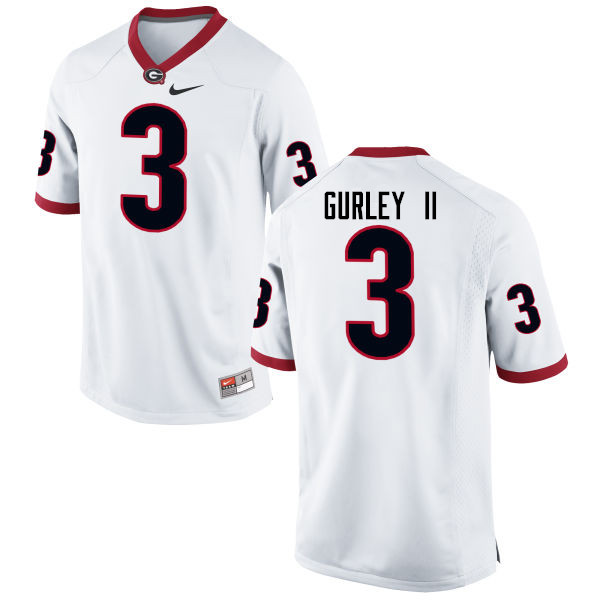 Men Georgia Bulldogs #3 Todd Gurley II College Football Jerseys-White