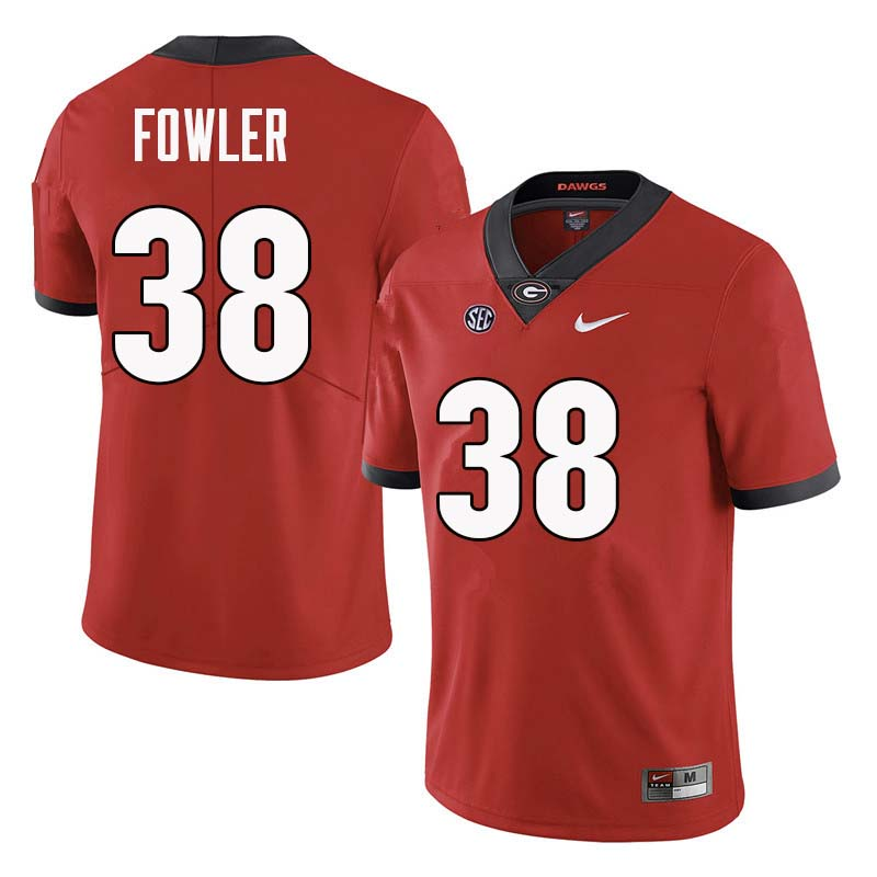 Men Georgia Bulldogs #38 Trent Fowler College Football Jerseys Sale-Red