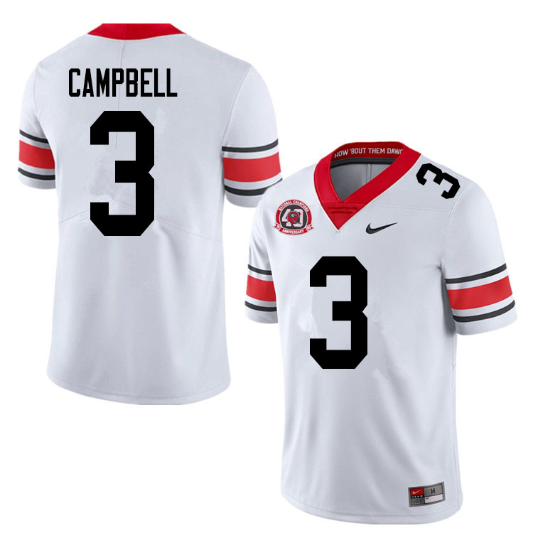 2020 Men #3 Tyson Campbell Georgia Bulldogs 1980 National Champions 40th Anniversary College Footbal