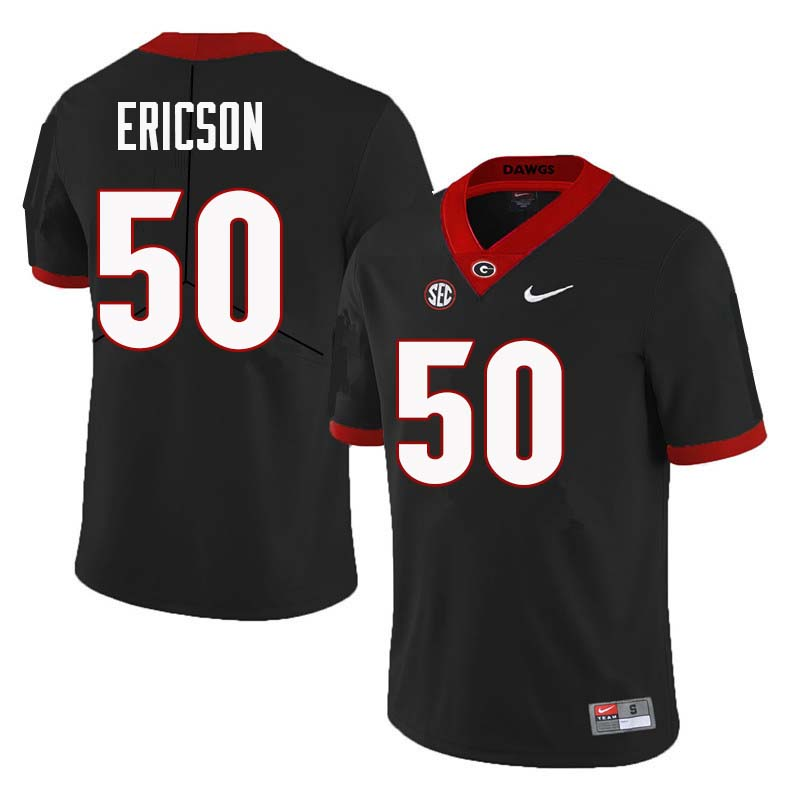 Men Georgia Bulldogs #50 Warren Ericson College Football Jerseys Sale-Black