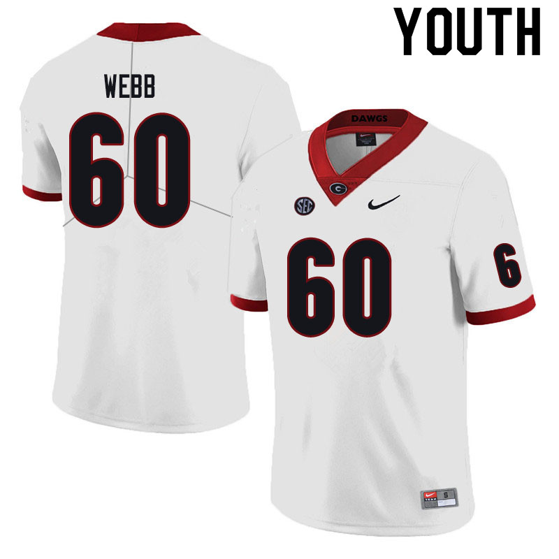 Youth #60 Clay Webb Georgia Bulldogs College Football Jerseys Sale-Black