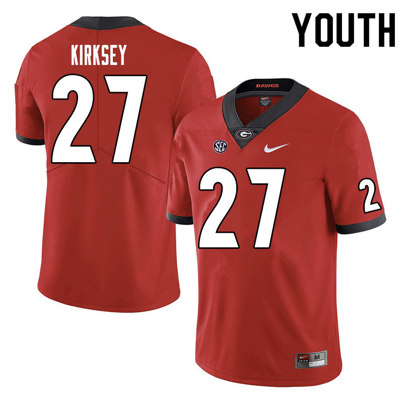 Youth #27 Austin Kirksey Georgia Bulldogs College Football Jerseys Sale-Red