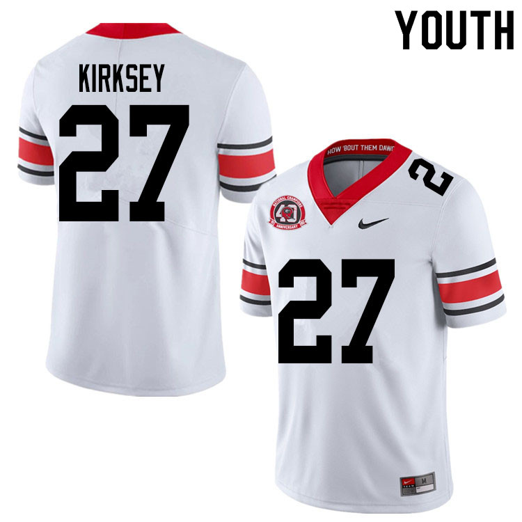 2020 Youth #27 Austin Kirksey Georgia Bulldogs 1980 National Champions 40th Anniversary College Foot