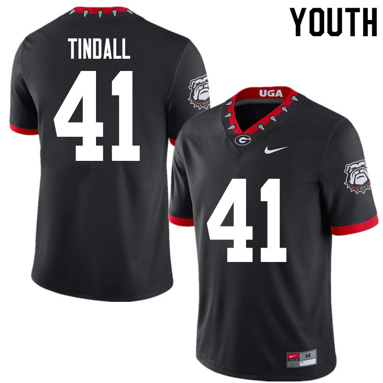 2020 Youth #41 Channing Tindall Georgia Bulldogs Mascot 100th Anniversary College Football Jerseys S