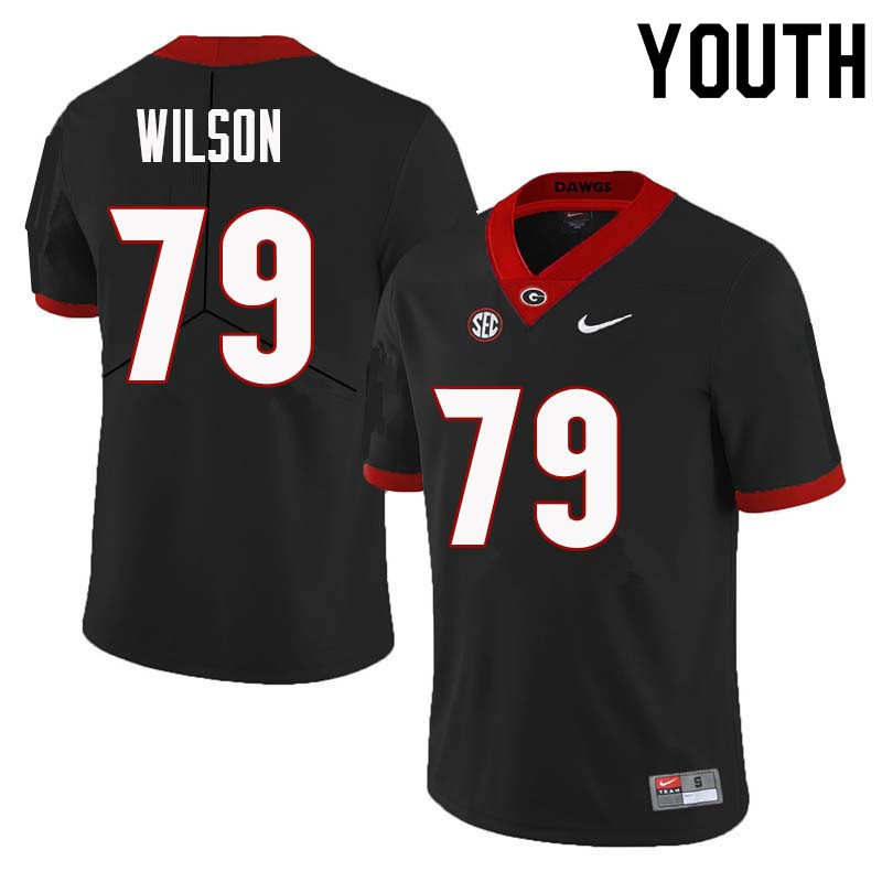 Youth Georgia Bulldogs #79 Isaiah Wilson College Football Jerseys Sale-Black