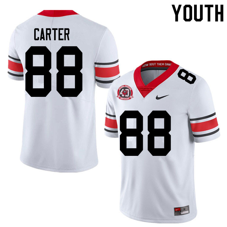 2020 Youth #88 Jalen Carter Georgia Bulldogs 1980 National Champions 40th Anniversary College Footba