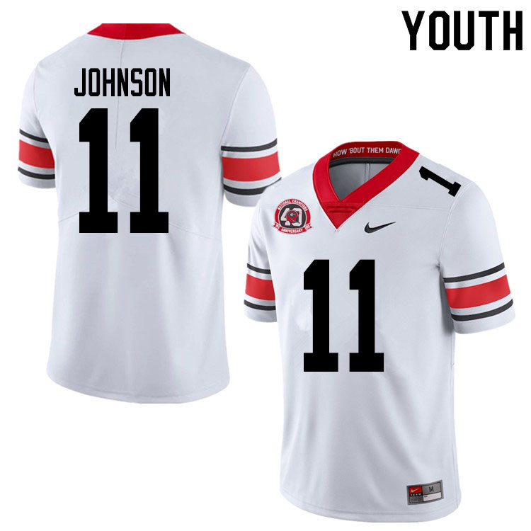 2020 Youth #11 Jermaine Johnson Georgia Bulldogs 1980 National Champions 40th Anniversary College Fo
