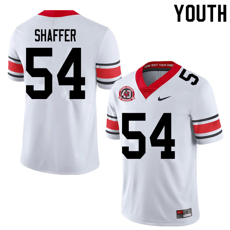 2020 Youth #54 Justin Shaffer Georgia Bulldogs 1980 National Champions 40th Anniversary College Foot