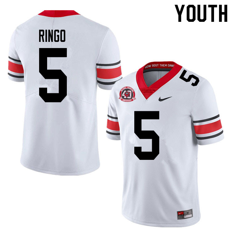 2020 Youth #5 Kelee Ringo Georgia Bulldogs 1980 National Champions 40th Anniversary College Football