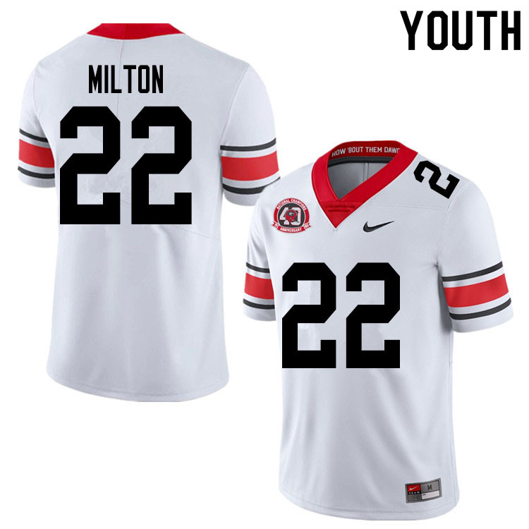 2020 Youth #22 Kendall Milton Georgia Bulldogs 1980 National Champions 40th Anniversary College Foot