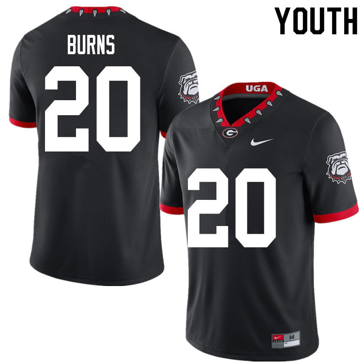 2020 Youth #20 Major Burns Georgia Bulldogs Mascot 100th Anniversary College Football Jerseys Sale-B